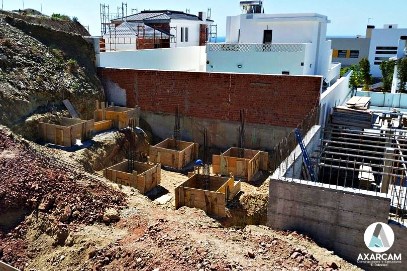 Cimientos estructura casa chalet
