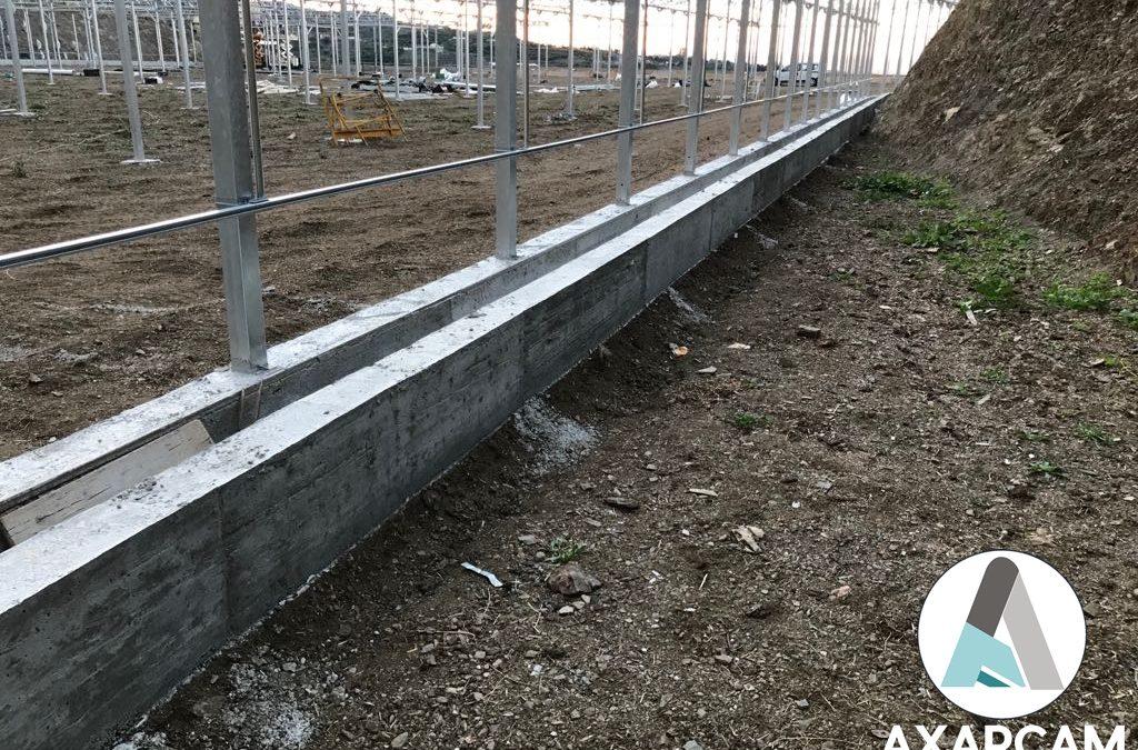 Muros de Canalización del agua, invernadero en Algarrobo
